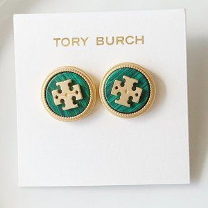 Tory Burch green earrings